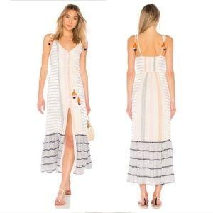 NWT Tularosa Villa Maxi Calamar Stripe Dress